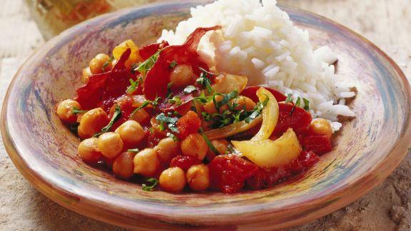 Rezept: Kichererbsen mit luftgetrocknetem Fleisch (Pastirma)