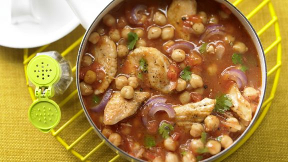 Rezept: Kichererbsen-Tomaten-Ragout