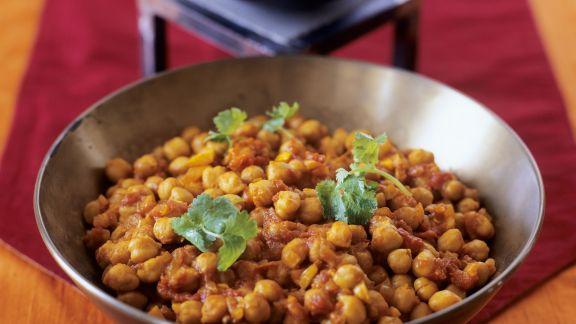 Rezept: Kichererbsencurry auf indische Art