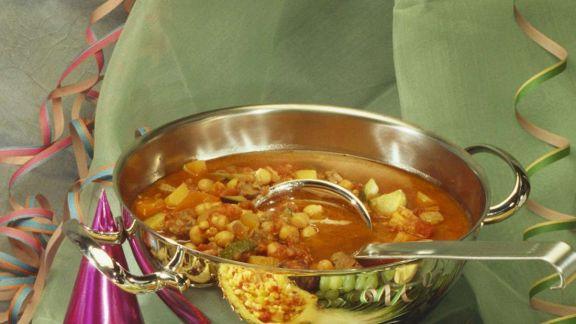 Rezept: Kichererbsensuppe mit Gemüse