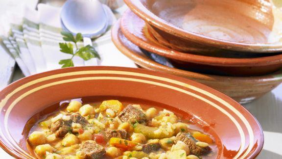 Rezept: Kichererbsensuppe mit Rind auf marokkanische Art
