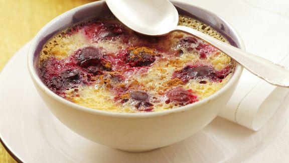 Rezept: Kirschen-Creme-brulee