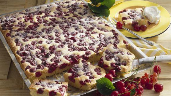 Rezept: Kirschkuchen mit Marzipan