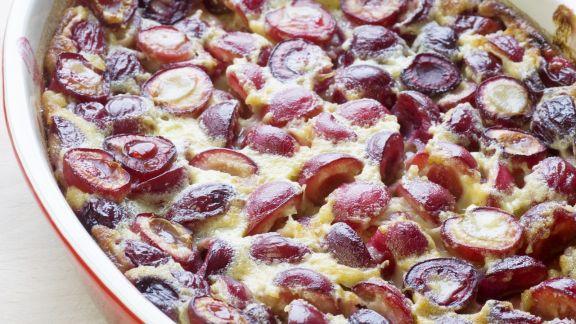 Rezept: Kirschkuchen nach französischer Art (Clafouti)