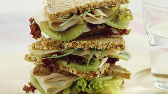 Rezept: Kiwi-Putenbrust-Sandwich