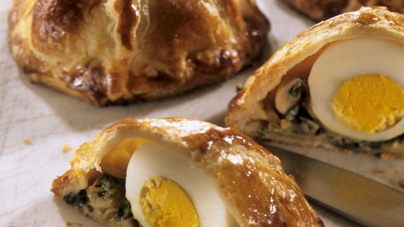 Rezept: Kleine Pasteten mit Ei