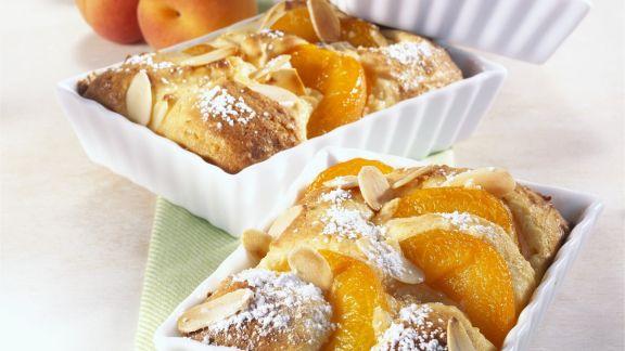 Rezept: Kleines Aprikosen-Gratin