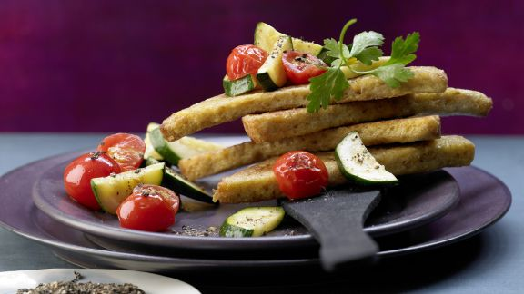Rezept: Knusprige Brotecken in Olivenöl