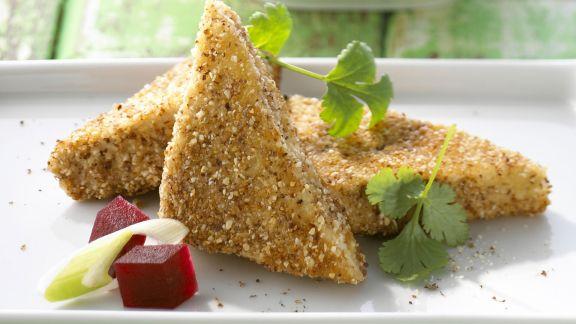 Rezept: Knuspriger Tofu mit Roter Bete