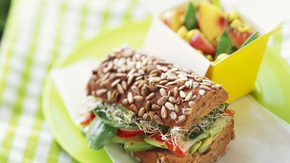 Rezept: Körnersandwich mit Gemüse