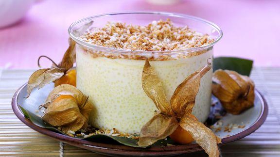 Rezept: Kokos-Reispudding mit Physalis