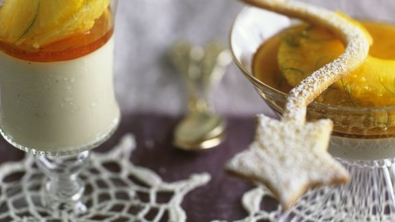 Rezept: Kokosmousse mit Ananas-Ingwer-Soße