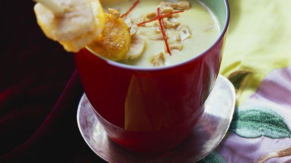 Rezept: Kokossuppe mit Bananenspieß