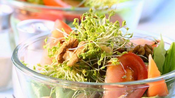 Rezept: Kopfsalat mit Tomaten