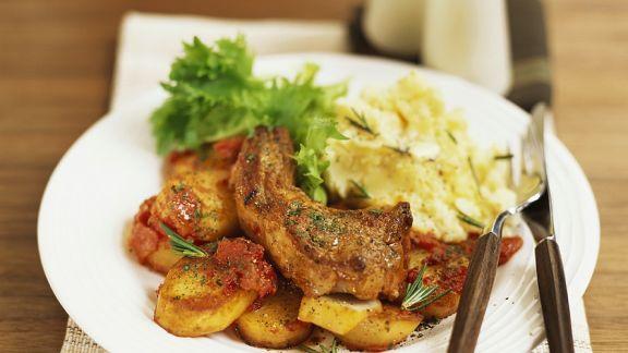 Rezept: Koteletts mit Bratkartoffeln
