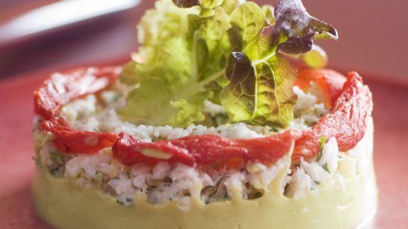 Rezept: Krabben mit Avocadocreme