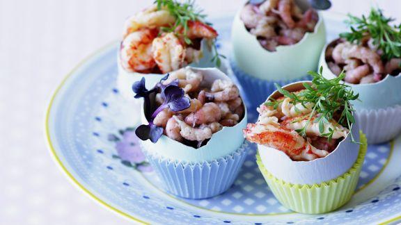 Rezept: Krabbenfleisch und Shrimps