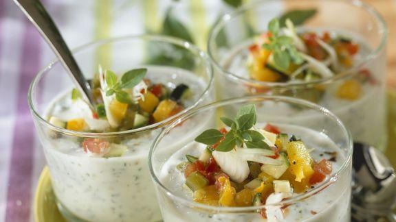 Rezept: Kräutersuppe mit Gemüse und Fisch