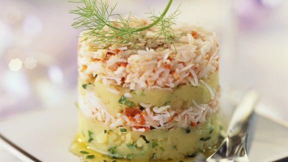 Rezept: Krebsfleisch-Kartoffel-Türmchen