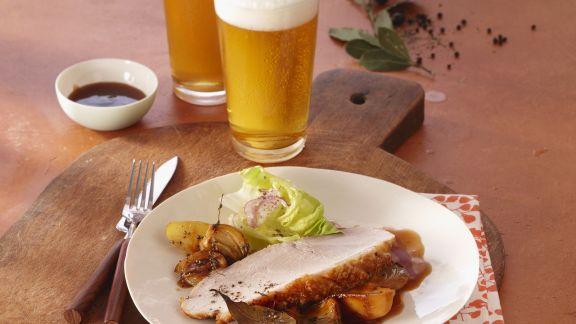 Rezept: Krustenbraten in Biersoße