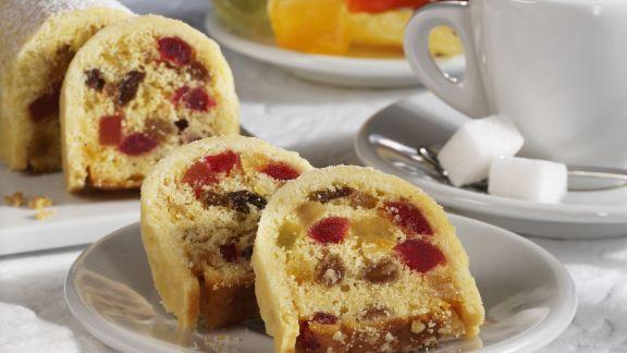 Rezept: Kuchen mit kandierten Früchten