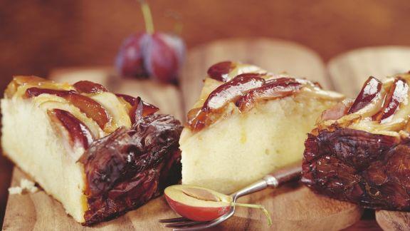 Rezept: Kuchen mit Zwetschge und Sauerkraut