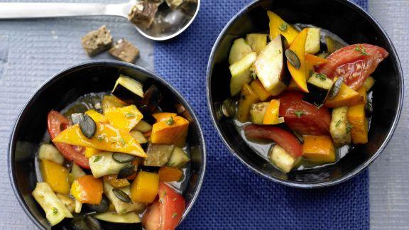 Rezept: Kürbis-Auberginen-Gemüse