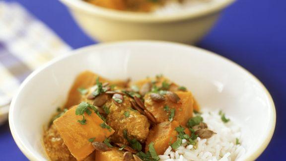 Rezept: Kürbis-Geflügel-Curry