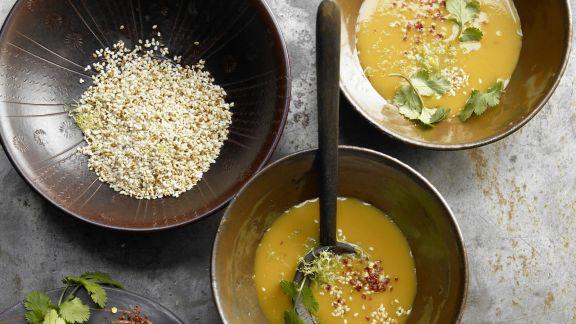 Rezept: Kürbis-Ingwer-Suppe