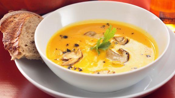 Rezept: Kürbis-Pilz-Suppe