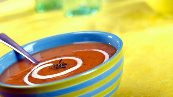 Rezept: Kürbis-Tomatensuppe