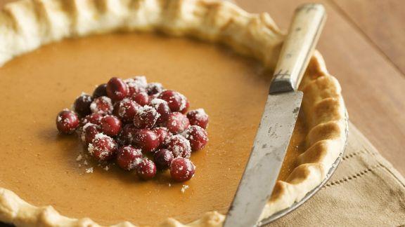 Rezept: Kürbiskuchen mit Cranberrys