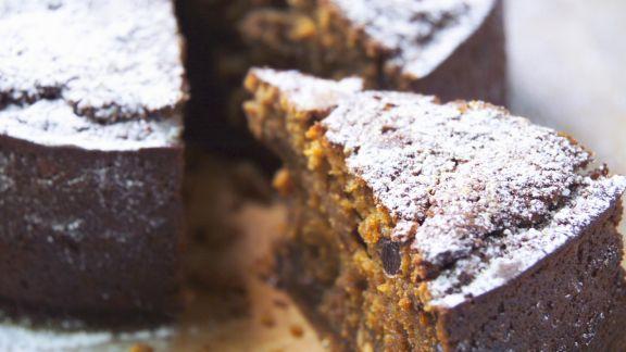 Rezept: Kürbiskuchen mit Trockenfrüchten