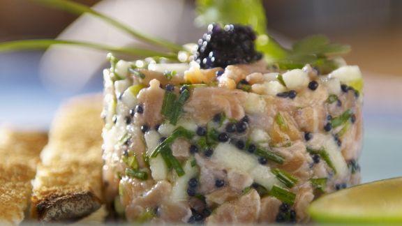 Rezept: Lachs-Apfel-Tatar