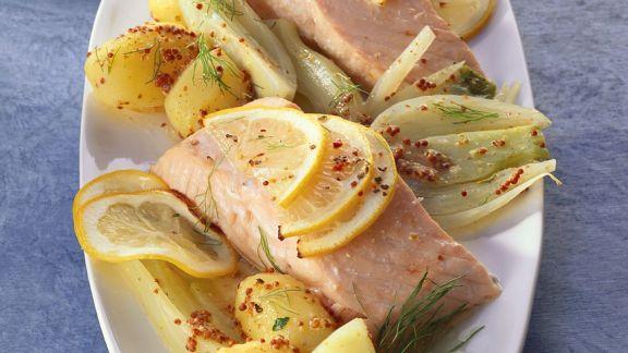 Rezept: Lachs mit Fenchel