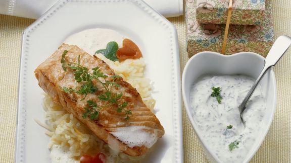 Rezept: Lachs mit Herz-Paprika
