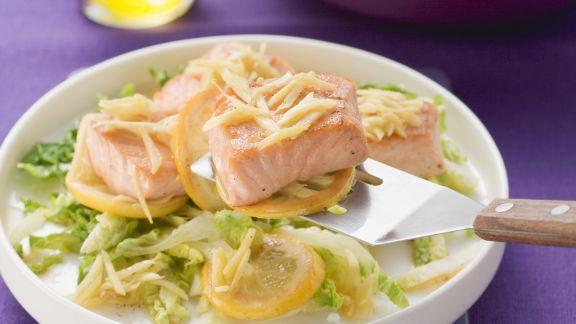 Rezept: Lachs mit Zitrone und Ingwer