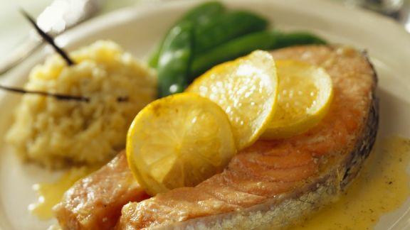 Rezept: Lachs mit Zitrone und Reis mit Vanillearoma