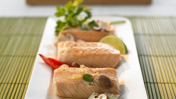 Rezept: Lachs mit Zitronengras