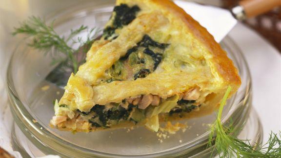 Rezept: Lachs-Spinat-Pie