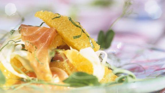 Rezept: Lachs und Fenchelsalat mit Orangen