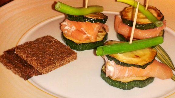 Rezept: Lachs-Zucchini-Spießchen