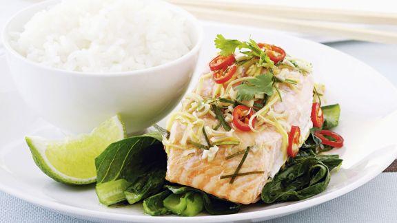 Rezept: Lachsfilet nach Thai-Art