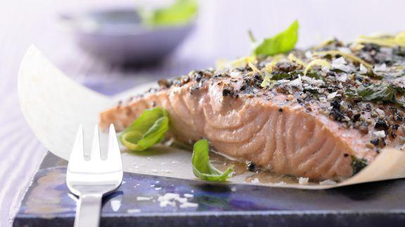 Rezept: Lachsfilet aus dem Ofen