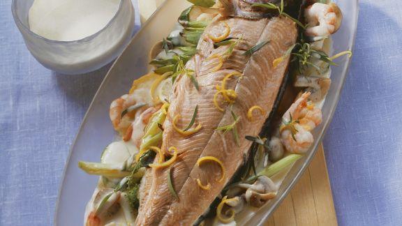 Rezept: Lachsforelle in Weißweinsauce