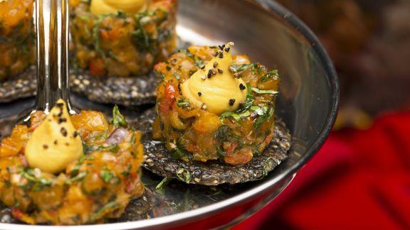 Rezept: Lachshäppchen mit Safran-Aioli
