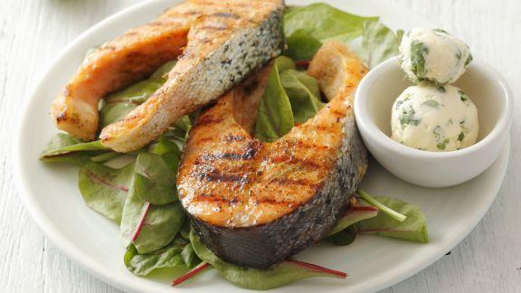 Rezept: Lachskoteletts vom Grill