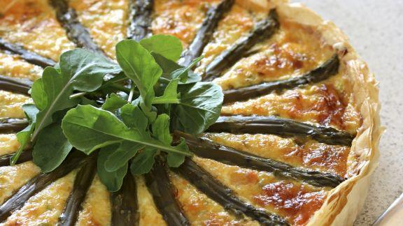 Rezept: Lachsquiche mit Spargel