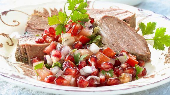 Rezept: Lamm mit Granatapfelsoße
