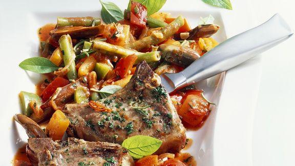 Rezept: Lammchops mit Gemüseragout